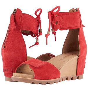 New!  Sorel Joanie ankle lace sandals wedge
